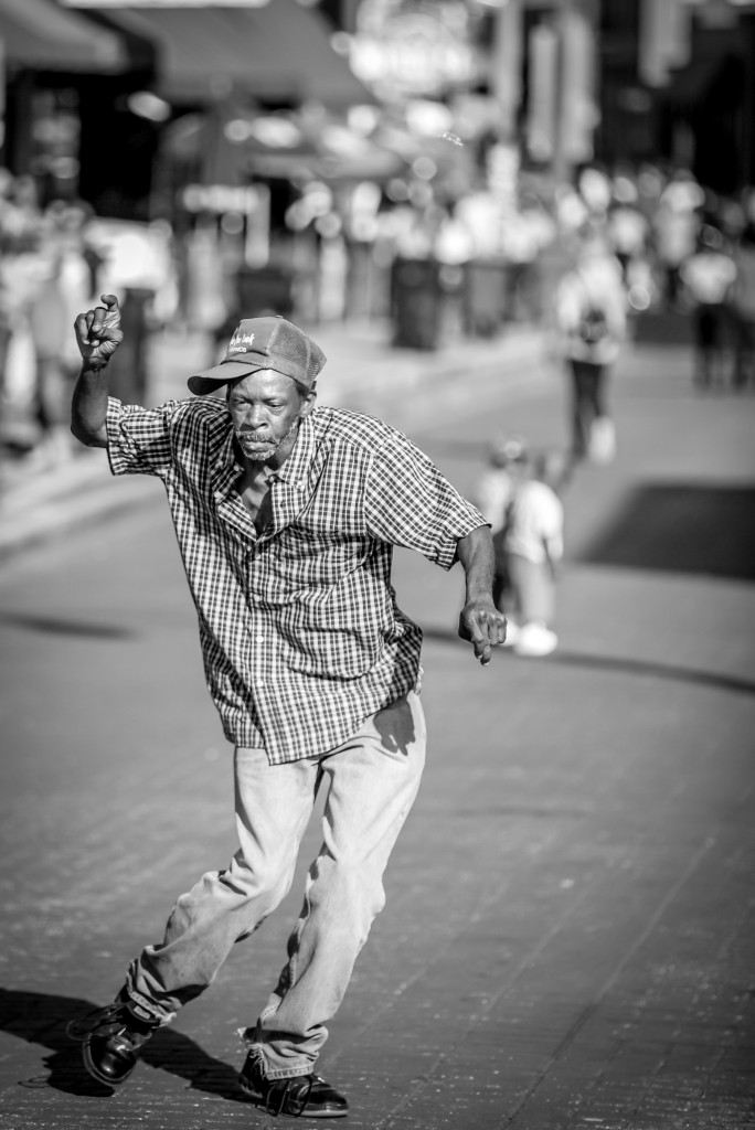 Dance Like No One is Watching.  Or Everyone Is.  Beale Street, April 2015.