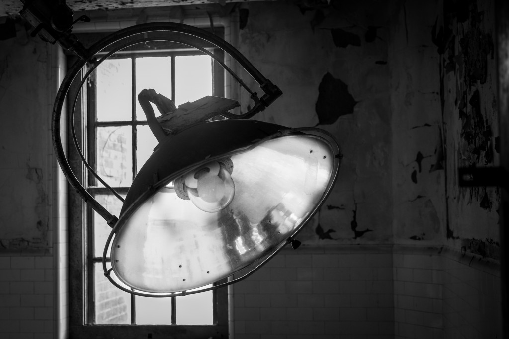 Great Big Light.  Tour of the US Merchant Marine Hospital, French Fort, Memphis TN, April 2015.