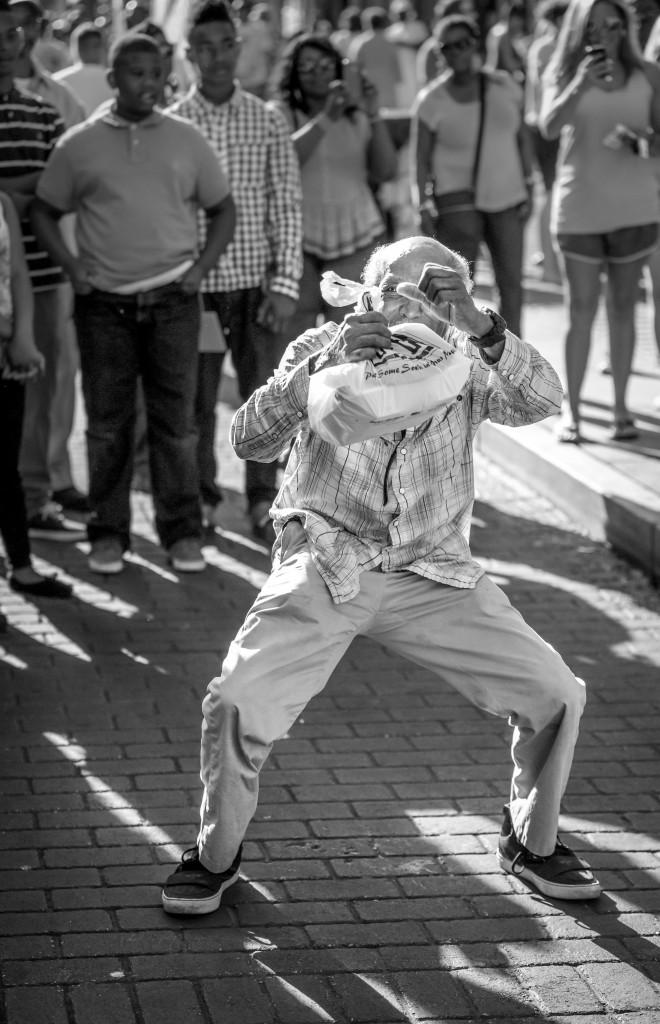 Dancing Photo Bomb.  Beale Street, Musicfest, May 2, 2015.