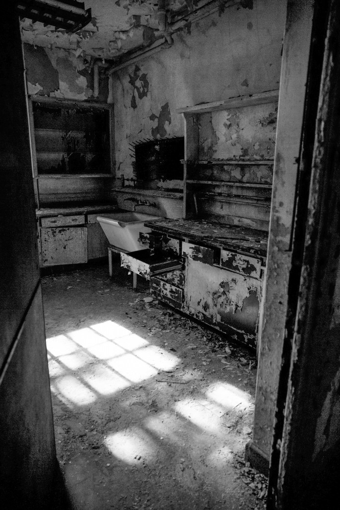 The Pharmacy. Shadows and Light.  Tour of the US Merchant Marine Hospital, French Fort, Memphis TN, April 2015.