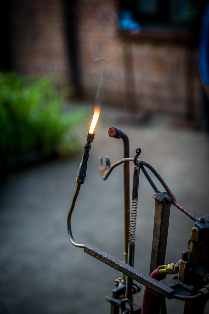 A Single Flame.  Ornamental Metal Museum, Memphis.  May 7, 2015